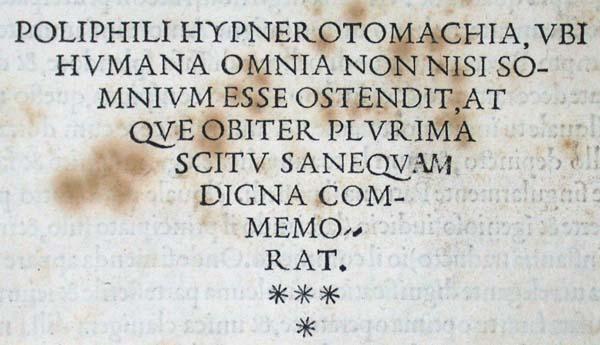 13a Hypnerotomachia Incipit